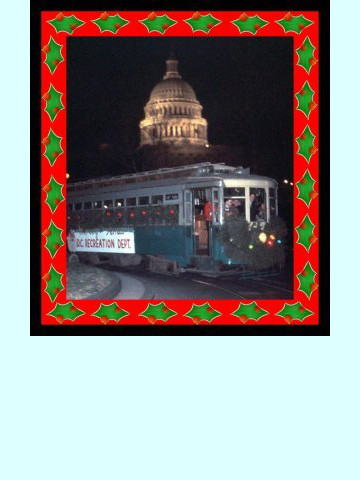 Garden RR in winter - TARS 678 with Carolers